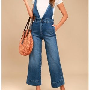 Free People A-line overalls